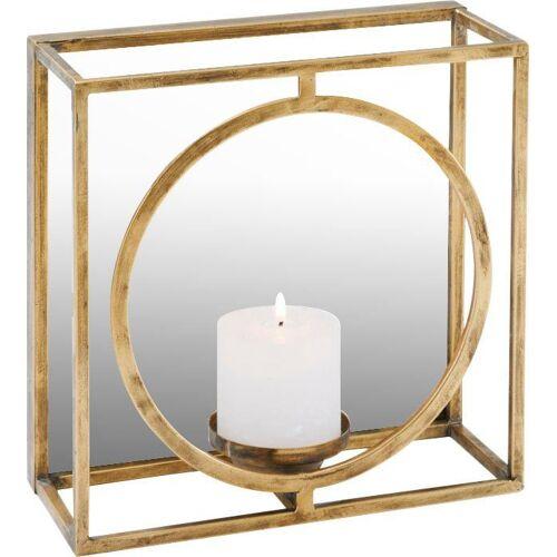 Schneider Wandkerzenhalter, Kerzen-Wandleuchter, Kerzenhalter, Kerzenleuchter hängend, Wanddeko, mit Spiegel