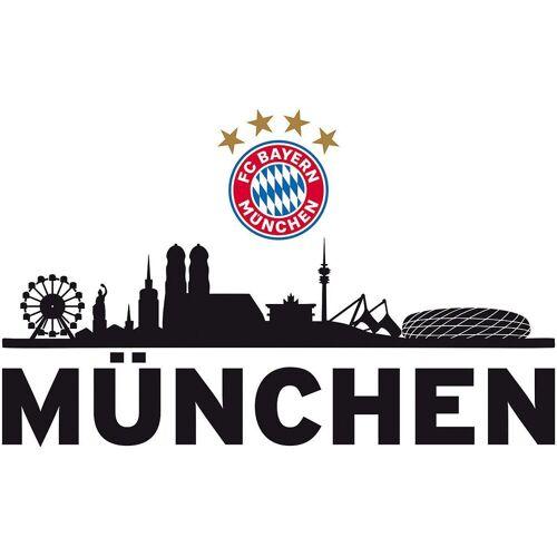 FC Bayern München Wandsticker »Wandsticker FCB Skyline mit Logo, 60 x 30 cm«