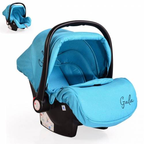 Moni Babyschale »Babyschale Gala, Gruppe 0+«, 3 kg, (0 - 13 kg), Sitzpolster, Fußabdeckung, hellblau