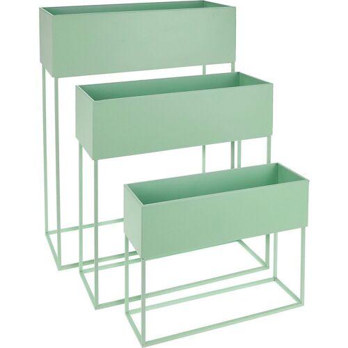 Koopmann Blumenkasten »3er-Set Stand-Blumenkasten 50 x 20 x 64 cm + 46 x«, grün