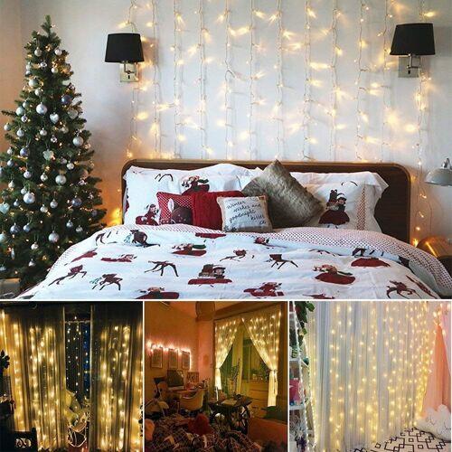 interGo Gartenschlauch »LED Lichtervorhang Deko Weihnachtsbaum Lichtervorh«