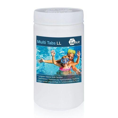 yourGEAR Whirlpool »1 kg Multi Tabs LL - 200g Chlor Tabletten Algenverhütung pH Stabilisierung Flockung Kristallklar«