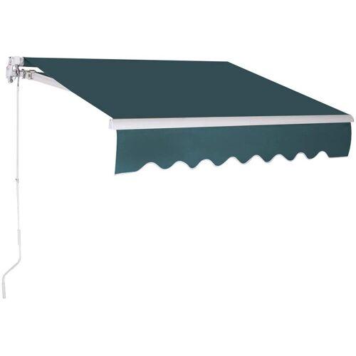COSTWAY Markise »Sonnenmarkise, Terrassenmarkise, Klemmmarkise« 3 x 2,5 m, mit Kurbel, für Balkon und Veranda, Grün