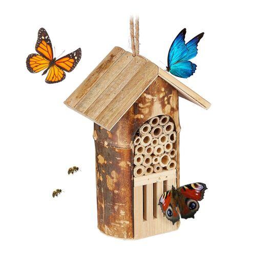 relaxdays Insektenhotel »Insektenhotel Bienen & Schmetterlinge«