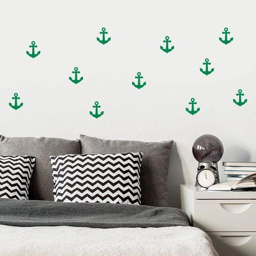 ART Wall-Art Wandtattoo »Anker Set«, grün