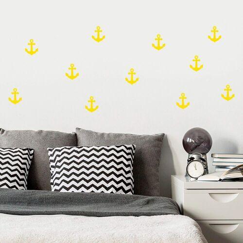 ART Wall-Art Wandtattoo »Anker Set«, gelb
