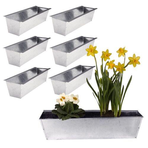 BigDean Blumenkasten »Pflanzkasten für Europaletten verzinkt glänzend« (6 Stück)