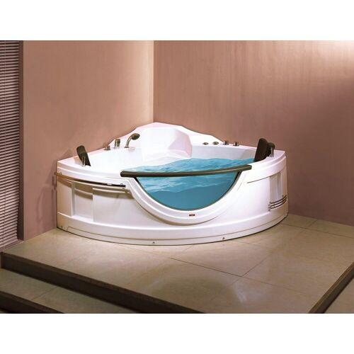 Sanotechnik Whirlpool-Badewanne »COSTA RICA«, (5-tlg), 150/150/68 cm, Eck Whirlpool mit Fenster