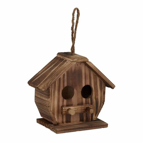 relaxdays Vogelhaus »Deko Vogelhaus aus Holz«