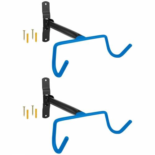 Wellgro Fahrradhalter »2x Wand Fahrradhalter - Stahl - Tragkraft bis 30 kg - Fahrradhalter - Fahrrad Ständer - Fahrradständer - Ständer«, Blau