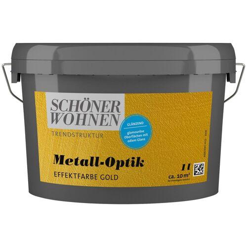 SCHÖNER WOHNEN-Kollektion Wandfarbe »Metall-Optik Effektfarbe gold«, glänzend 1 l