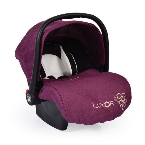 Moni Babyschale »Babyschale, Kindersitz Luxor, Gruppe 0+«, 2.9 kg, (0 - 13 kg), Sitzpolster, Fußabdeckung, lila