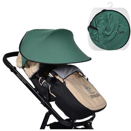 Cangaroo Kinderwagenschirm »Universal Sonnenschutz«, für den Kinderwagen Schutz vor Sonne Wind Staub, grün
