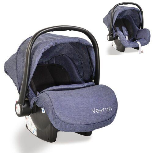 Moni Babyschale »Kindersitz, Babyschale Veyron Gruppe 0+«, 3.1 kg, (0 -13 kg) Sonnendach, Adapter, blau