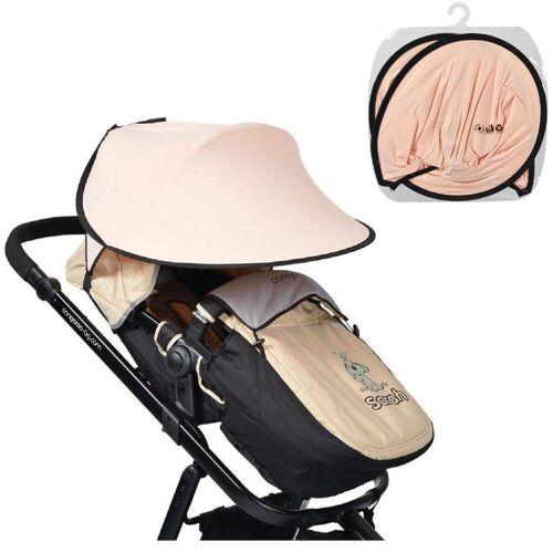 Cangaroo Kinderwagenschirm »Universal Sonnenschutz«, für den Kinderwagen Schutz vor Sonne Wind Staub, rosa