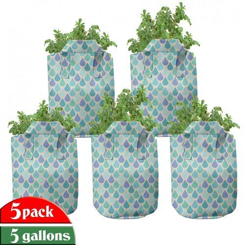 Abakuhaus Pflanzkübel »hochleistungsfähig Stofftöpfe mit Griffen für Pflanzen«, Teal Bunte Wasser-Tröpfchen