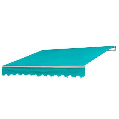 MCW Gelenkarmmarkise »-E49« Inklusive Volant, UV-Schutz 50, türkis
