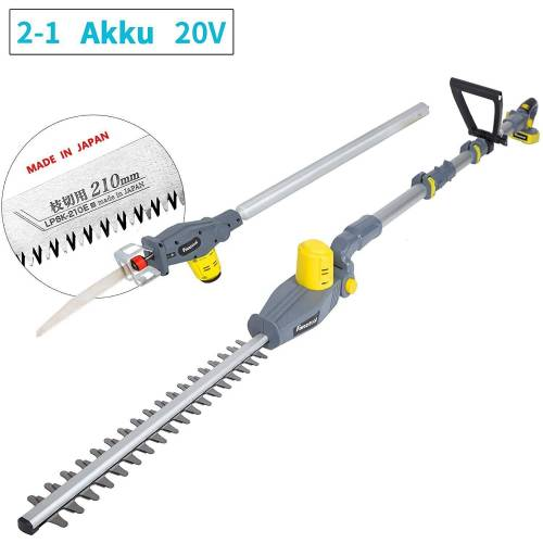 Fanztool Akku-Heckenschere »20V Li-Ion Akku 2-in-1 Hochentaster/teles«