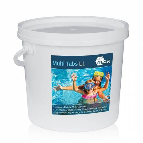 yourGEAR Whirlpool »3 kg Multi Tabs LL - 200g Chlor Tabletten Algenverhütung pH Stabilisierung Flockung Kristallklar«