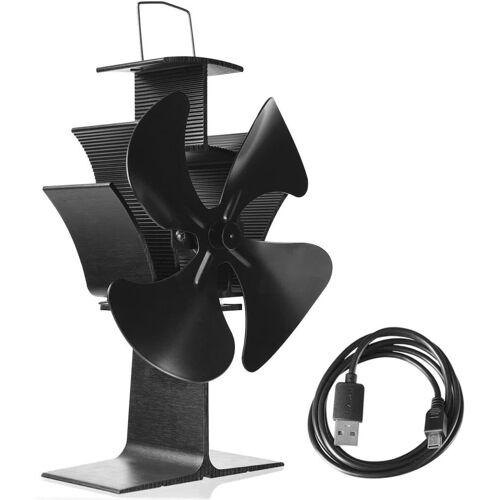 COSTWAY Mini USB-Ventilator Kaminlüfter Ventilator für Kamin
