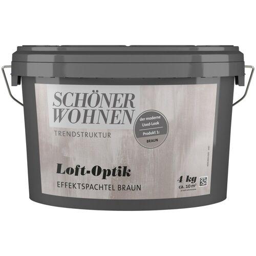 SCHÖNER WOHNEN-Kollektion Spachtelmasse »Loft-Optik Effektspachtel braun«, 4 kg