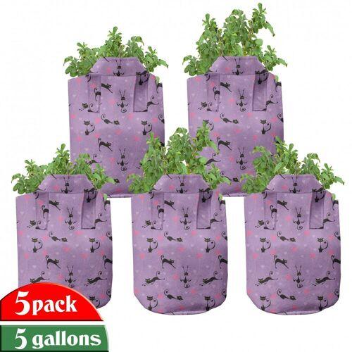 Abakuhaus Pflanzkübel »hochleistungsfähig Stofftöpfe mit Griffen für Pflanzen«, Teen Zimmer Kleine Kätzchen-Herzen