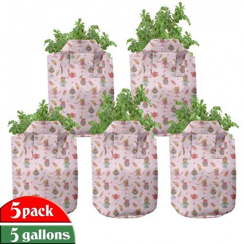 Abakuhaus Pflanzkübel »hochleistungsfähig Stofftöpfe mit Griffen für Pflanzen«, Eis Teekannen Plätzchen