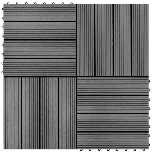 vidaXL Fußboden »WPC Holz Terrassenfliese Bodenfliese Fliese«