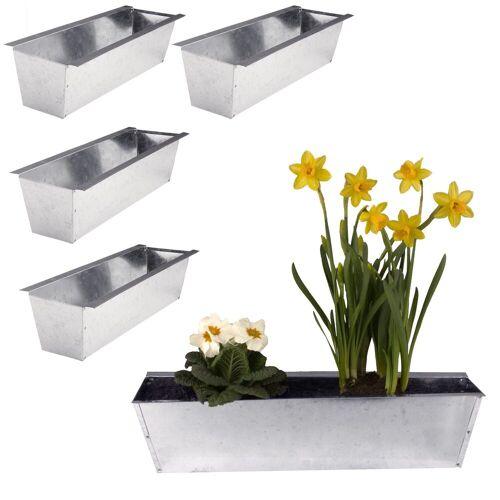 BigDean Blumenkasten »Pflanzkasten für Europaletten verzinkt glänzend« (4 Stück)