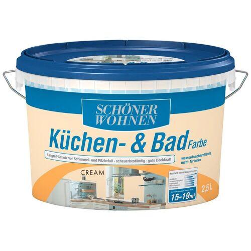 SCHÖNER WOHNEN-Kollektion Feuchtraumfarbe »Küche/Badfarbe, cream«, 2,5 l