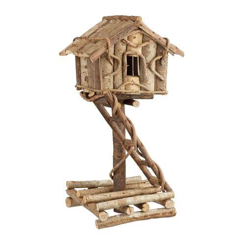 relaxdays Vogelhaus »Vogelhaus stehend zur Dekoration«