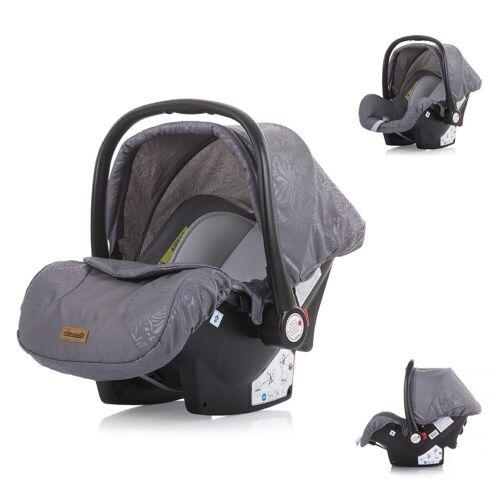 Chipolino Babyschale »Kindersitz, Babyschale Havana Gruppe 0+«, 3.35 kg, (0 -13 kg) Adapter, Sonnendach, grau