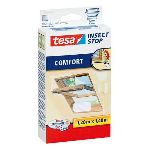 tesa Insektenschutz-Fenster »Insect Stop Fliegengitter COMFORT für Dachfenster«, (1-St), Insektenschutz, Für Dachfenster, Rückstandslos entfernbar