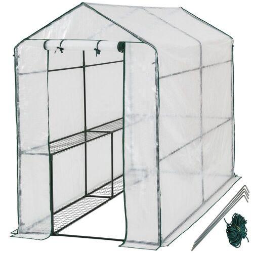 tectake Gewächshaus »Gewächshaus mit Plane«, UV stabilisierte PVC Folie