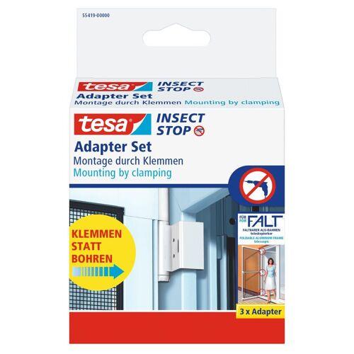 tesa Insektenschutz-Tür »Tür-Klemme für die Montage von Insektenschutz«, (1-St), Insektenschutz, Ersatzadapter, weiß
