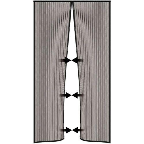 Nematek Insektenschutz-Vorhang »® Insektenschutz Fliegengitter Magnetvorhang für Türen bis 100 x 220 cm, individuell kürzbar, anthrazit«