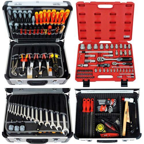 FAMEX Werkzeugset »418-20«, (Set, 194-St), im Werkzeugkoffer