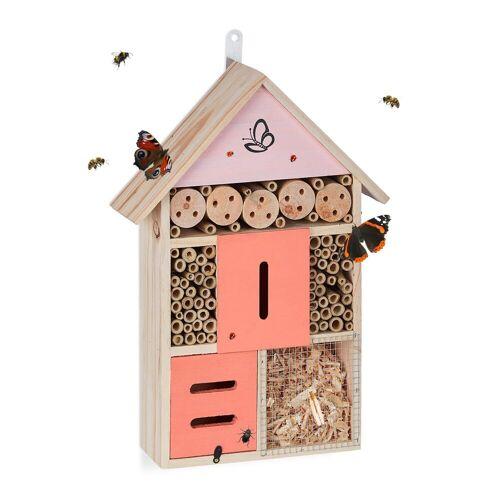 relaxdays Insektenhotel »Insektenhotel Schmetterling«