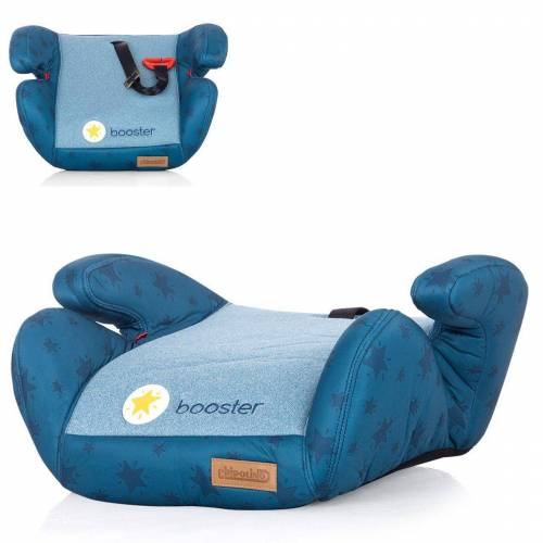 Chipolino Kindersitzerhöhung »Kindersitz Booster Gruppe 2/3«, 1.2 kg, (15 - 36 kg) Gurtführung Bezug abnehmbar, blau