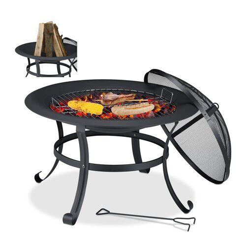 relaxdays Feuerschale »Feuerschale mit Grillrost«