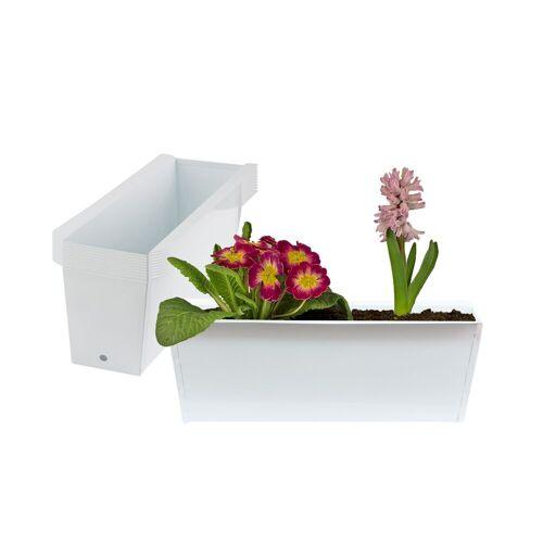 BigDean Blumenkasten »Pflanzkasten Palette Paletten Pflanzkübel 35,5 x 12,5 x 12 cm Palettenkasten« (10 Stück)