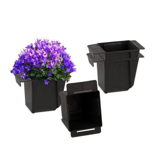 BigDean Blumenkasten »Pflanzkasten Palette Mini Kunststoff Paletten Pflanzkübel Palettenkasten Palettenpflanzkasten« (4 Stück)