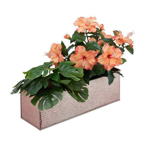 relaxdays Blumenkasten »Blumenkasten für innen«, Kupfer