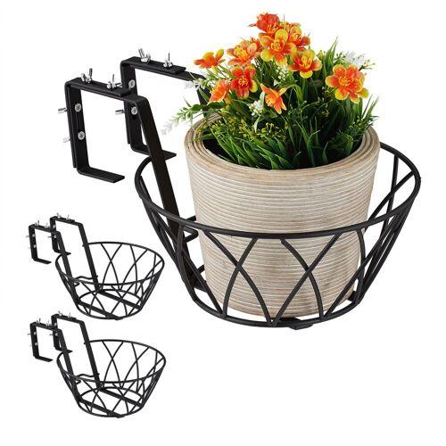 relaxdays Blumenkasten »Blumentopfhalter Balkon 3er Set«