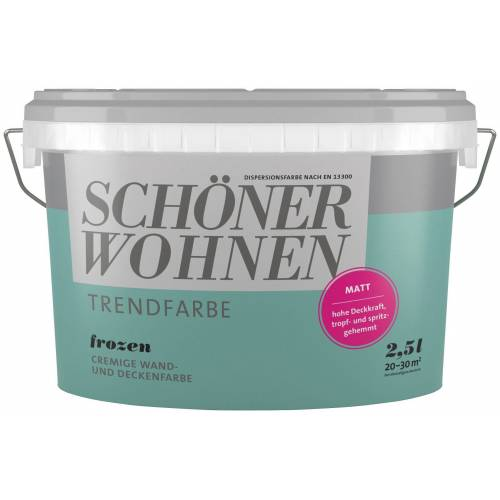 SCHÖNER WOHNEN-Kollektion Wand- und Deckenfarbe »Trendfarbe Frozen, matt«, 2,5 l