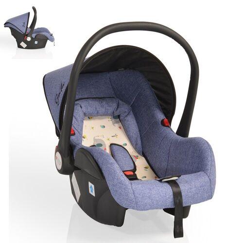 Moni Babyschale »Babyschale Gala, Gruppe 0+«, 3 kg, (0 - 13 kg), Sitzpolster, Fußabdeckung, blau