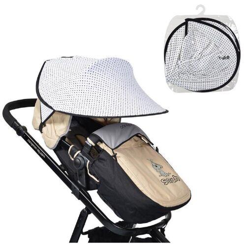 Cangaroo Kinderwagenschirm »Universal Sonnenschutz«, für den Kinderwagen Schutz vor Sonne Wind Staub, Punkte
