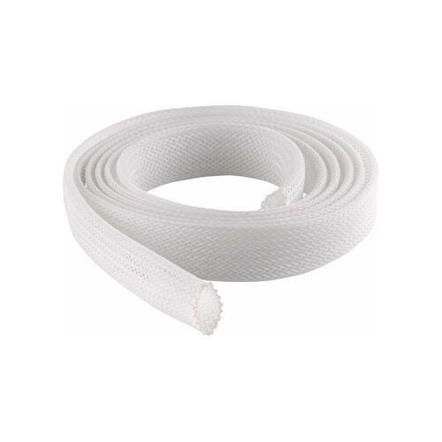 Schwaiger Schrumpfschlauch »Gewebekabelschlauch Ø 20 mm perfekt zum Bündeln von Kabeln Kabelschlauch Kabelkanal Gewebeschlauch Kabelbündel Weiß«