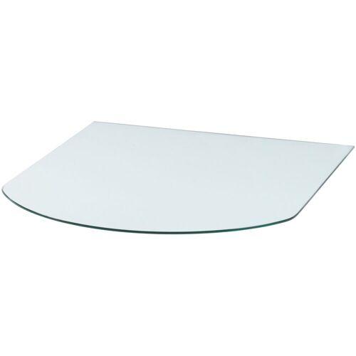 Heathus Bodenschutzplatte, Halbrundbogen, 85 x 110 cm, transparent, für Kaminöfen