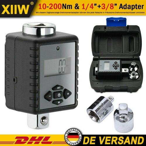 XIIW Drehmomentschlüssel »Digitaler Drehmoment Adapter Aufsatz Drehmomentschlüssel Ratsche Knarre 10-200nm Nuss 1/4+3/8